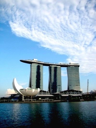 Memory, one cut Singapore Trip Trip Marina Bay Sands Hotel The First Foreign Trip