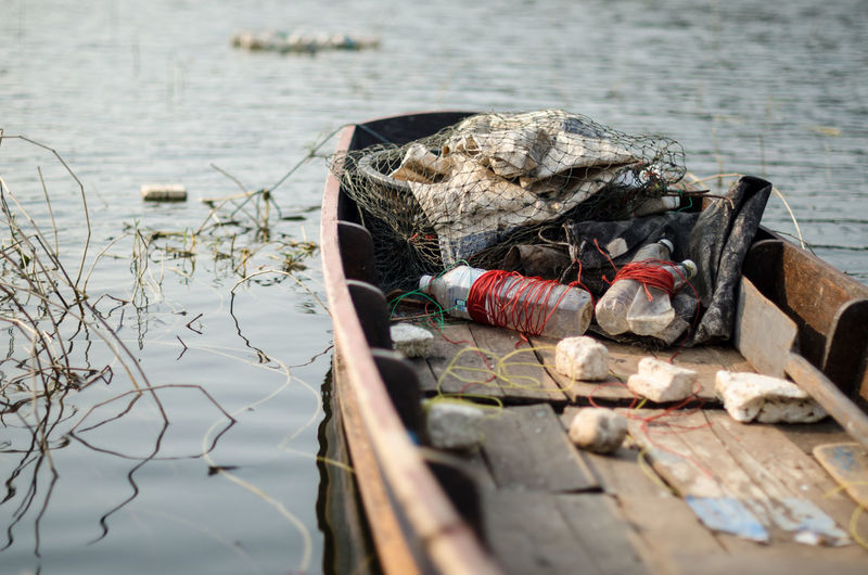 Garbage On Boat