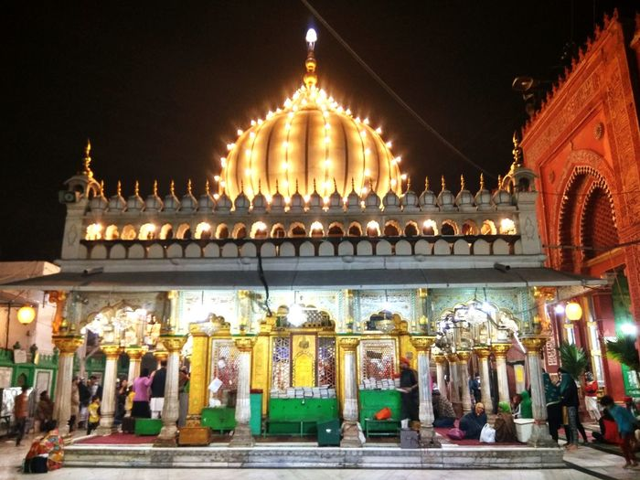Hazrat Nizamuddin Dargah Night Architecture Business Finance And Industry Illuminated Travel Destinations No People Outdoors