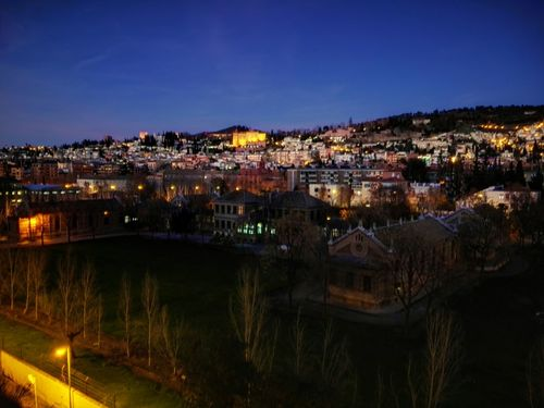 Illuminated Cityscape Night Built Structure Architecture Urban Skyline Luminosity Residential Building Building Exterior Outdoors Cultures Granada Views Granada, Tierra Soñada... Granada Places Of Interest Neighborhood Map