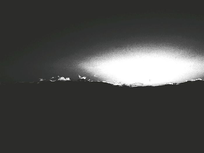 And Horizon Light And Shadow Bring Me The Disco King Variation Monochrome Sky And Clouds Sunset No People Water Night Black Background Illuminated Freshness Nature
