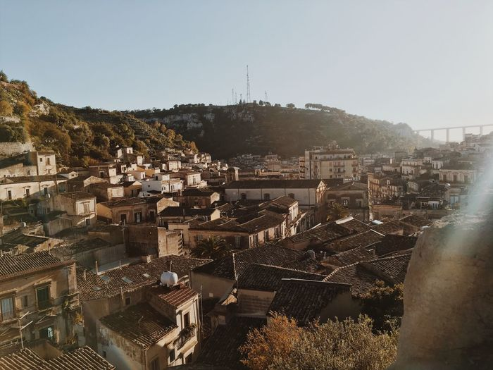 Italy EyeEm Best Shots EyeEmNewHere EyeEm Nature Lover Modica Sicily Sky Architecture Built Structure Building Exterior City Nature Clear Sky Day Tree Sunlight No People High Angle View