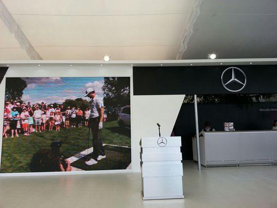 A punto de comenzar la conferencia de prensa de Mercedes-Benz