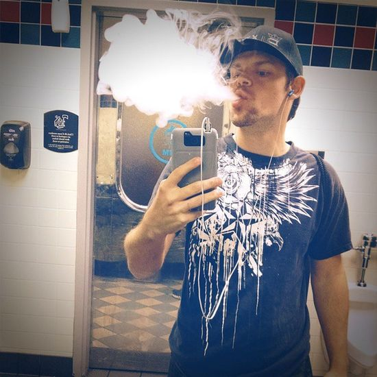 In the bathroom at ChickFilA. Lol Vape Cloudchaser Volcanoecigs Lunghits vaping vapor blowingclouds vapelyfe vistavapors birthdaycake vape_tough vapedontsmoke itsvapor drippers rda rba