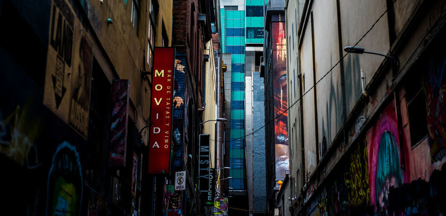 Lonely, even in the bustling city. Building Exterior Architecture Multi Colored Travel Destinations City Outdoors No People Melancholy Depression Lonely Somber Hosier Lane Melbourne Graffiti