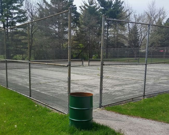 Tenniscourt Tennis 🎾 Tennis Court Trash Trashcan Bin Rubbish Rubbish Bin
