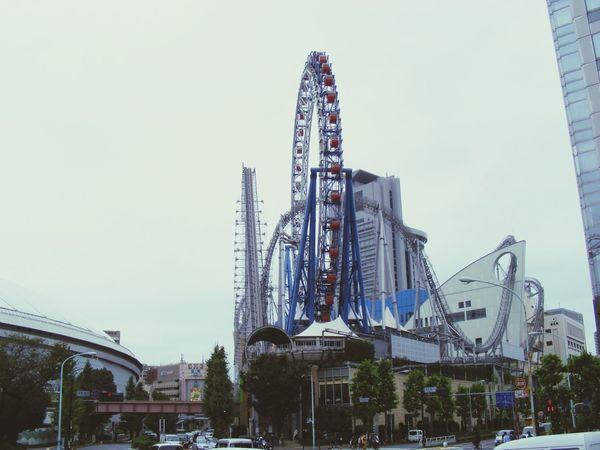 Rollercoaster Architecture Giant Wheel Ferris Wheel Tokyo Japan Fun