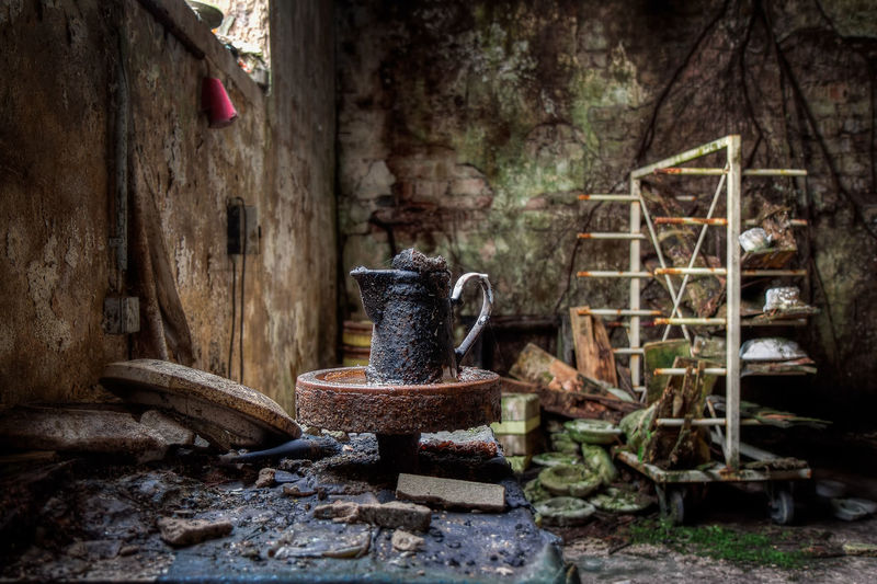 No People Old Abandoned Indoors  Household Equipment Kitchen Utensil Built Structure Obsolete Run-down Weathered Rustic Nature Urbexphotography Urbex Abandoned Places depth of field Factory Decay Decaying Urban Exploration Forgotten