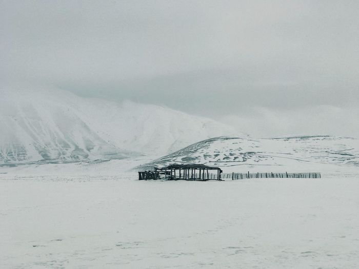 Mountain Scenics - Nature Cold Temperature Environment Landscape Snow Tranquil Scene Winter Non-urban Scene Land