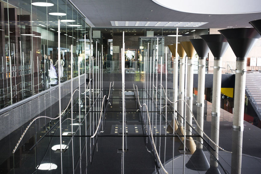 Reflection of cleaned floor Architecture Convenience Day Dimension Hall Of Fame Illuminated Indoors  Inside Interior Design Modern Reflection Transportation