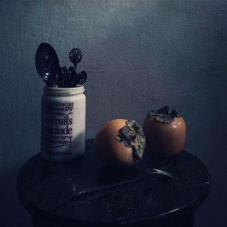 Persimmon Still Life Fruit Food
