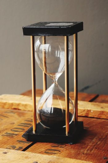 As sands through the hour glass.. Popular Photos EyeEm Best Shots EyeEm Selects EyeEm Gallery Canonphotography Old Town Spring Time Sand Table Wood - Material Hourglass Close-up Transparent Instrument Of Time Single Object Glass - Material Still Life