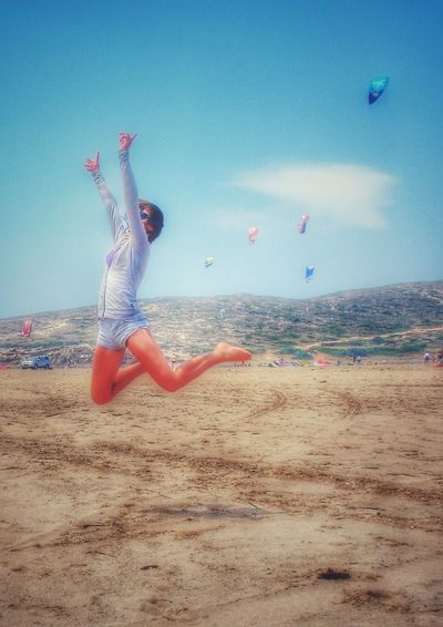 Showcase March Up Beach Colors Travel Beachlife Moments Bestphoto Jump Girl Kite Sky Rhodes Prasonisi Woman Legs Playa Spiaggia