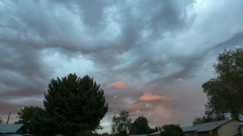 Beautiful Storm No Filter Just Nature Pink Clouds