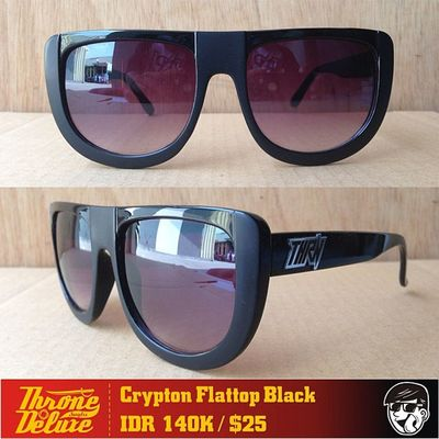 Crypton flattop black. Throne39 Fall Catalogue Sunglasses eyeglasses . Online order to : +62 8990 125 182.