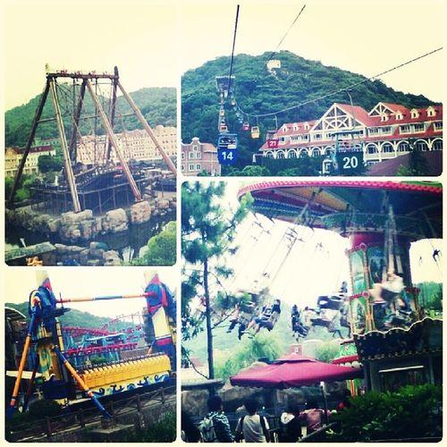 杭州乐园 海盗船 缆车 杭州 游乐园过山车Hangzhou