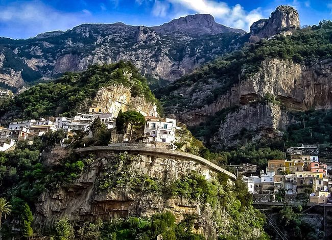 Amalfi🌷coast Mountain Architecture Built Structure Plant Nature No People Sky Building Exterior Tree Beauty In Nature Mountain Range Building City Day Cloud - Sky Sunlight Growth Outdoors Scenics - Nature Travel Destinations