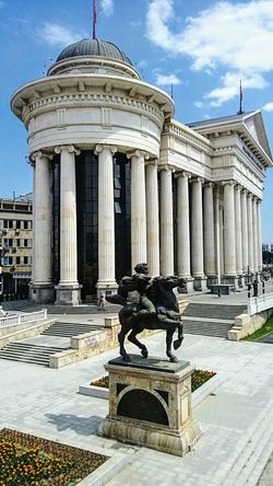 Skopje,Republic of Macedonia Architectural Columns Museum Archeologymuseum Monument Columns Pillars No People Outdoor Photography Historical Place Skopje Macedonia Architecture History Travel Destinations Monument Built Structure Statue Cloud - Sky Building Exterior Outdoors Travel