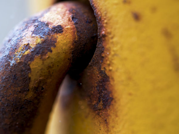 Gas Cylinder Brown Close-up Day Decline Extreme Close-up Indoors  Metal No People Obsolete Old Rusty Selective Focus Textured  Yellow