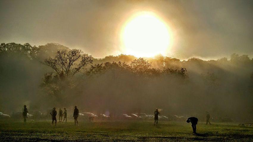 Soccer Water Fog Tree Cold Temperature Sport Sky Grass