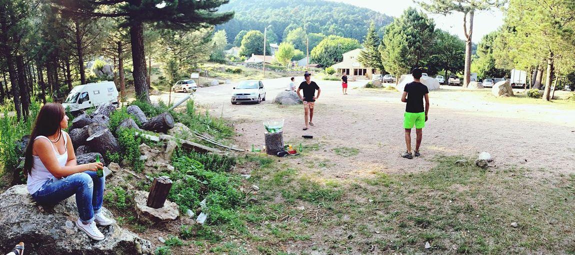 Boules Amis  Taking Photos Montagne Été
