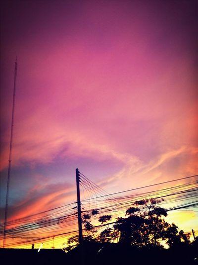 ท้องฟ้าดั่งกระจกสะท้อนจิตใจ