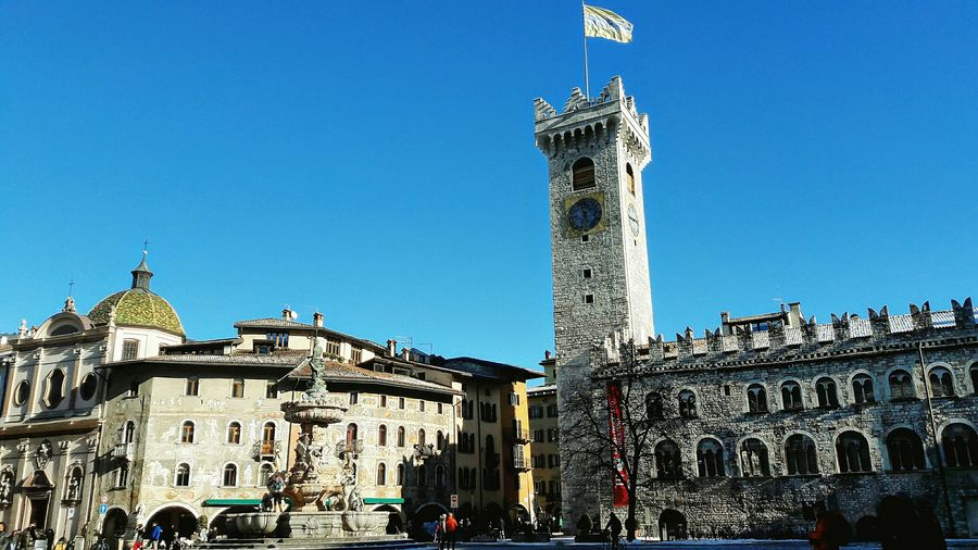 City Travel Destinations Blue Clear Sky Tower Clock Architecture Outdoors Cityscape Urban Skyline Day Italy🇮🇹 Trento Trento Cathedral Duomo No Filter, No Edit, Just Photography Scenics Vacations City Life City Architecture Building Exterior Urbanphotography Urban Lifestyle Colorful