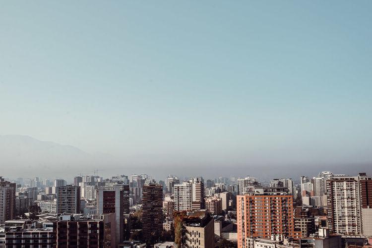 Chile City Citylights Cityscape No People Santiago De Chile Skyscraper Sundown