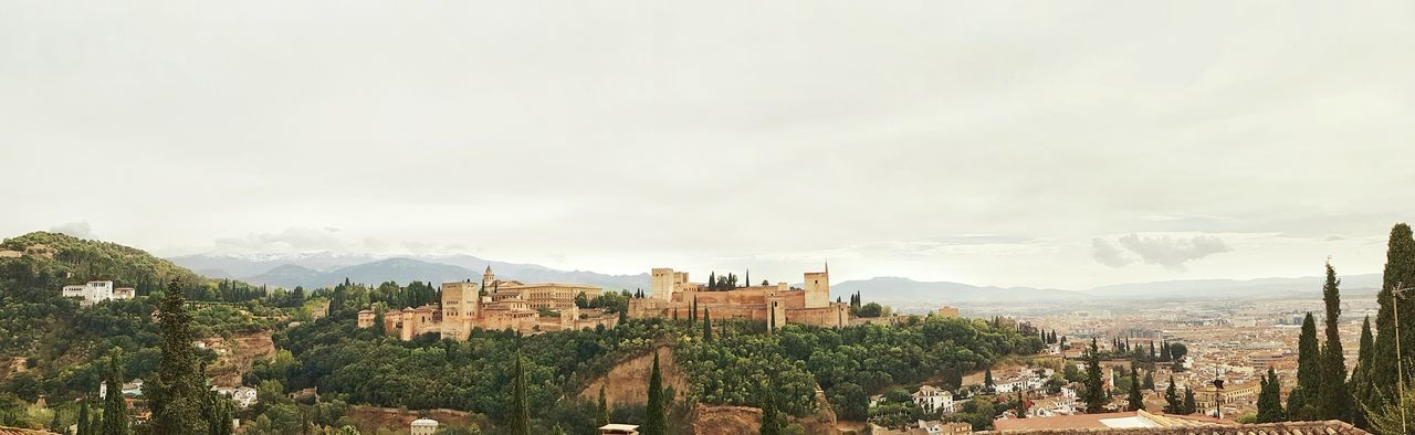 Andalusia Spain🇪🇸 Alhambra Palace Granada Outdoor TravelNo People Travel Photography Granada Sightseeing Tourist Attraction World Heritage Landscape Mountains Panorama Panoramic Town TOWNSCAPE