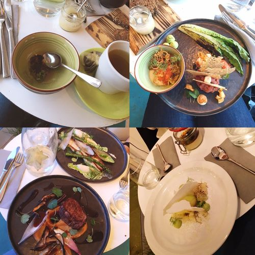 Dinner Bright White Colors Meat! Meat! Meat! Fellin Tea Fruit TarTar ❤