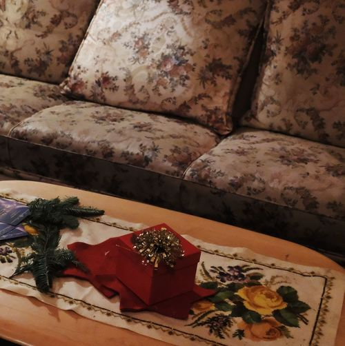 The retro series. No People High Angle View Indoors  Nature Close-up Sunlight Still Life Furniture Red Day Sofa Pattern Pillow Decoration Flooring The Still Life Photographer - 2018 EyeEm Awards
