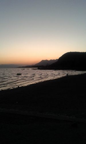 Sky Sea Scenics - Nature Beauty In Nature Land Nature Tranquility Landscape Water Environment Beach Tranquil Scene Travel No People Sunset Copy Space Travel Destinations Outdoors Mountain Chapala Chapala! Chapala Lake Chapala Jalisco Mexico Bay