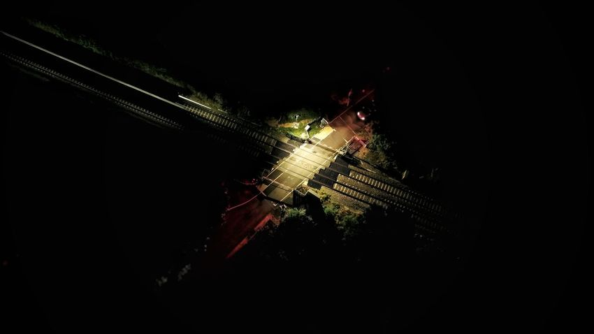 Night crossing Railroad Track Rail Crossing Long Exposure Train DJI X Eyeem Celebration Night No People Illuminated Indoors  Close-up HUAWEI Photo Award: After Dark