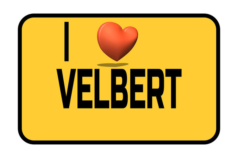 City entrance road sign with caption in english - I love my city Velbert and heart symbol Yellow Communication Text Sign Western Script Capital Letter Studio Shot Heart Shape Indoors  Symbol Close-up No People Cut Out Message White Background Red Positive Emotion Shape Information Love #NotYourCliche Love Letter