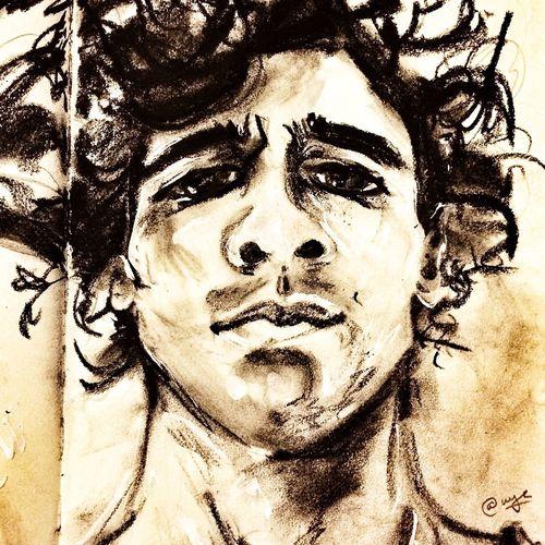 Daniel P. Sktchyapp inspired Charcoal art Draw Art Black And White Portrait