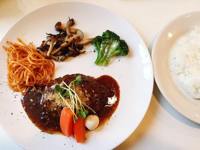 4/7ランチ ハンバーグ お肉やさんのハンバーグ 京都 六角 お腹いっぱい Hunberg Lunch