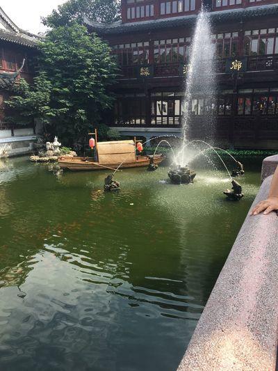 上海豫园 豫园 Water Architecture Built Structure Building Exterior Nature Mode Of Transportation Reflection