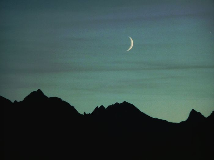 moonlight the Alps