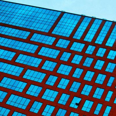 Kazakhstan Astana Architecture Window Plastic Glass Blue Red