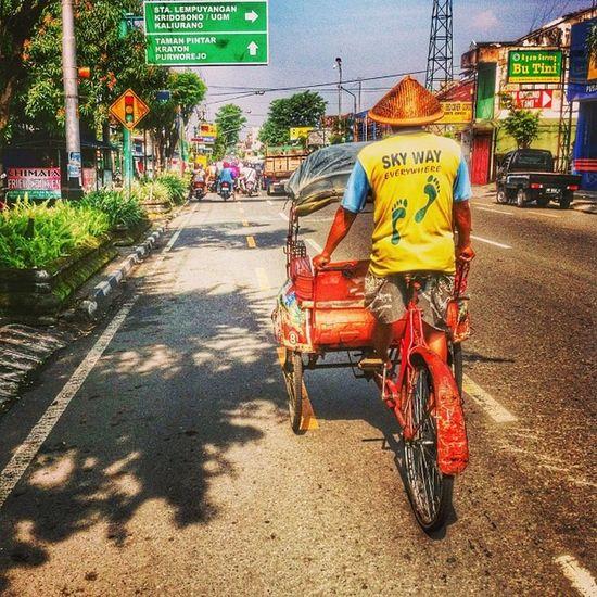 Becak Streetgraph Iphonesia Jogjaart