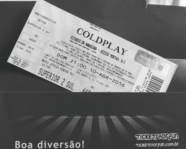 Coldplay Concert  A Head Full Of Dreams Coldplay Check This Out Enjoying Life Hanging Out Riodejaneiro Photography Maracanã Ticket Band Concert