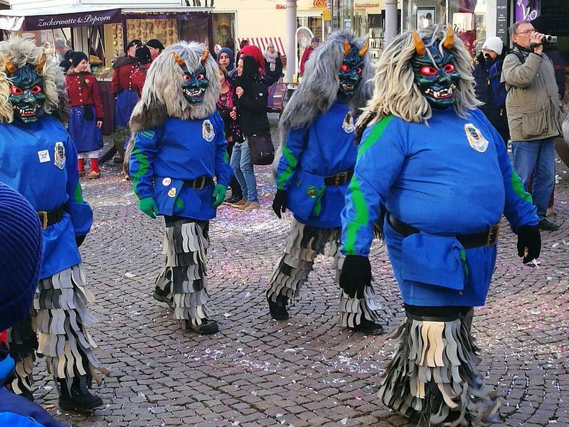 Carnival Crowds And Details Friedrichshafen Am Bodensee Umzug