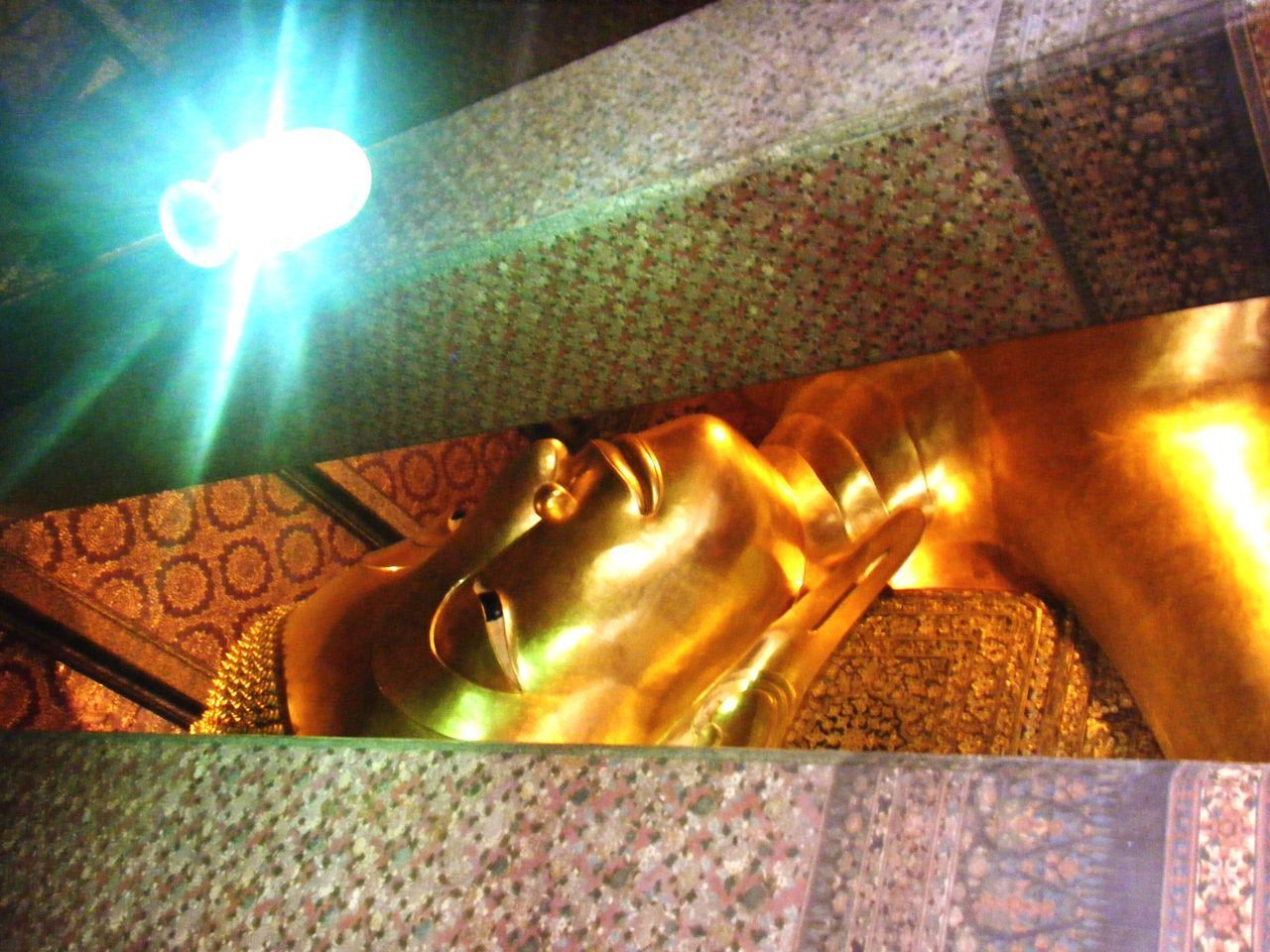 indoors, illuminated, gold colored, low angle view, close-up, no people, day
