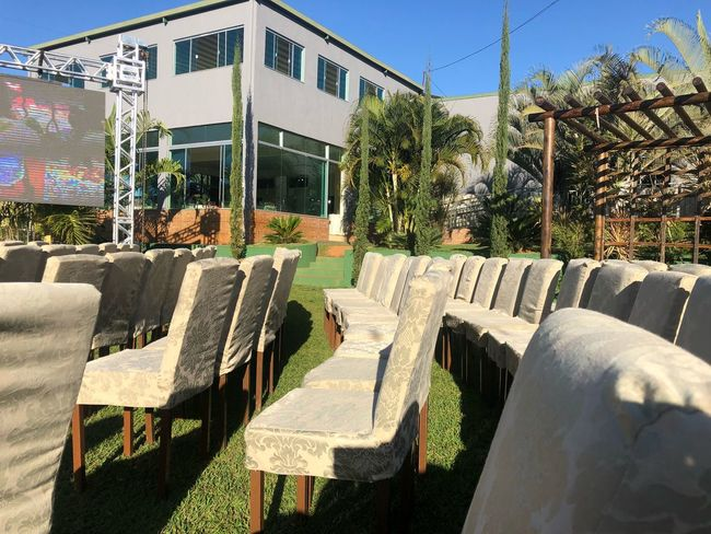 Marriage  Sunny Day Party - Social Event Party Plant Sunlight Seat Nature Built Structure Day Architecture Chair Tree Building Exterior No People Sky Outdoors Absence Empty Shadow Growth Clear Sky Sunny Building