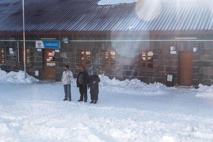 Turkey Railway Station Train Station Sarıkamış Winter Cold Temperature Snow Weather Day