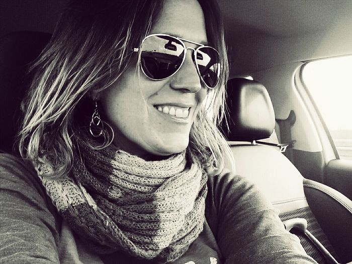 Fabulous Sunglasses Sunday Selfie Sunday That's Me in Black And White Fortheloveofblackandwhite Driving Home