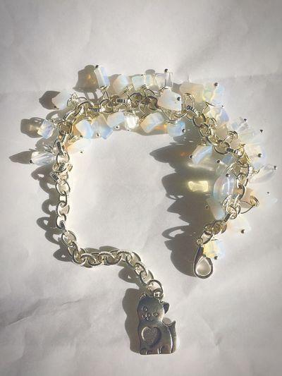 """Браслет """"Лунный кот"""" браслет браслетик кот лунный кот Bracelet Moon Stone Moon Cat Cat ♡ Handmade Jewellery Jewelry"""