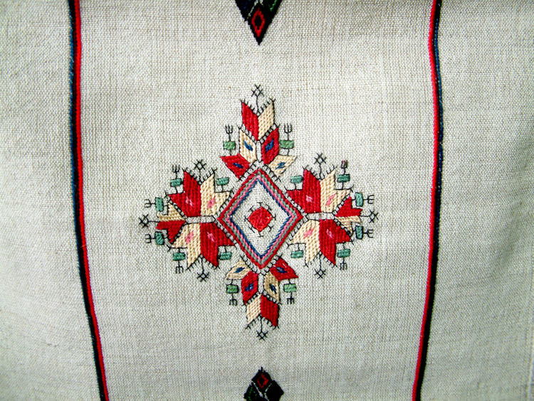 handmade, embroidery from macedonia Art And Craft Arts Culture And Entertainment Embroidery Embroiderywork Handmade Lines Macedonia Ohrid Pattern Red Shapes Skopje Textile
