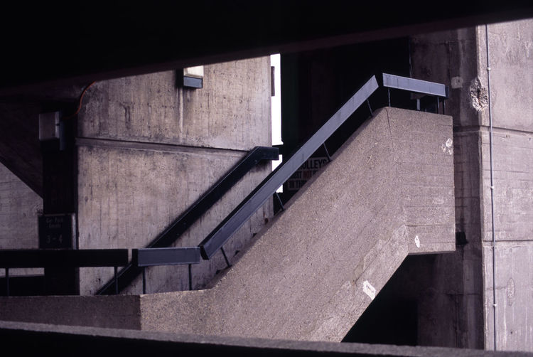 stairs in the trinity centre carpark Absence Architecture Car Park Carpark Concrete Fire Escape Gateshead Gatshead Multistory North East Owen Luder Railing Staircase Stairs Stairs Steps Steps Wall