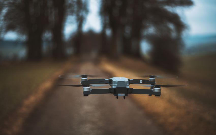 DJI Mavic Pro Drone  Flying Flying Drone Mid-air